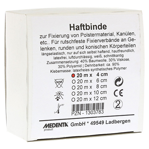 HAFTBINDE elastisch 4 cmx20 m 1 Stück