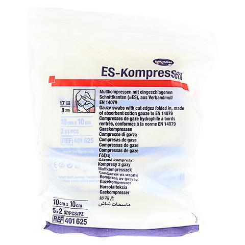 ES-KOMPRESSEN steril 10x10 cm 8fach 5x2 Stück