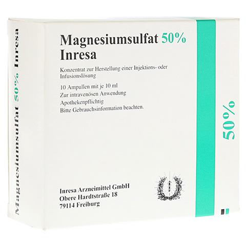 Magnesiumsulfat 50% Inresa 10x10 Milliliter N2