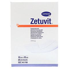 ZETUVIT Saugkompressen steril 10x10 cm 25 Stück - Vorderseite