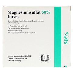 Magnesiumsulfat 50% Inresa 10x10 Milliliter N2 - Vorderseite