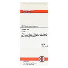 SEPIA D 8 Tabletten 200 Stück N2 - Vorderseite