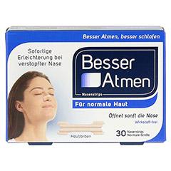 Besser Atmen Nasenstrips beige 30 Stück - Vorderseite