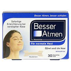 Besser Atmen Nasenstrips beige groß 30 Stück - Vorderseite