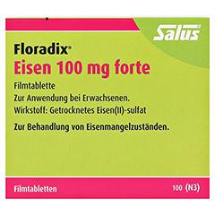 Floradix Eisen 100mg forte 100 Stück N3 - Vorderseite