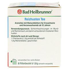BAD HEILBRUNNER Reizhusten Tee Filterbeutel 8x1.8 Gramm - Linke Seite
