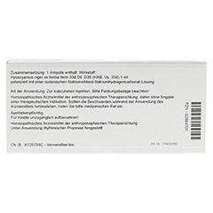 HYOSCYAMUS EX Herba D 30 Ampullen 10x1 Milliliter N1 - Rückseite