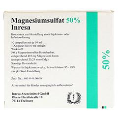Magnesiumsulfat 50% Inresa 10x10 Milliliter N2 - Rückseite