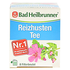 BAD HEILBRUNNER Reizhusten Tee Filterbeutel 8x1.8 Gramm - Oberseite