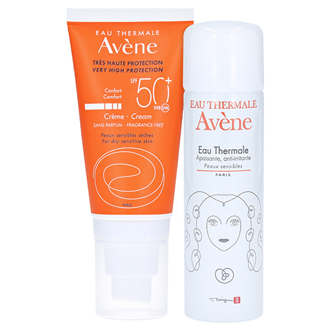 AVENE SunSitive Sonnencreme SPF 50+ o.Duftst. + gratis Thermalwasser 50 ml 50 Milliliter