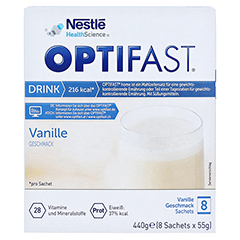 Optifast home Drink Vanille 8x55 Gramm - Vorderseite