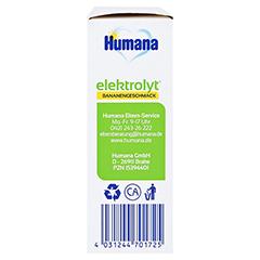 HUMANA Elektrolyt Banane Pulver Faltschachtel 75 Gramm - Linke Seite