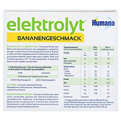 HUMANA Elektrolyt Banane Pulver Faltschachtel 75 Gramm - Rückseite