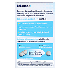 TETESEPT Magnesium 400 hochdosiert Tabletten 30 Stück - Rückseite