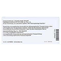 HYPOTHALAMUS GL D 15 Ampullen 10x1 Milliliter N1 - Rückseite
