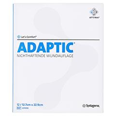 ADAPTIC 12,7x22,9 cm feuchte Wundauflage 12 Stück - Vorderseite