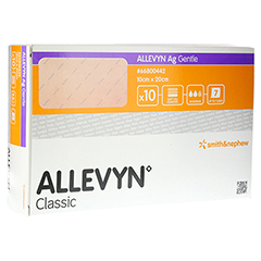ALLEVYN Ag Gentle 10x20 cm Wundverband 10 Stück