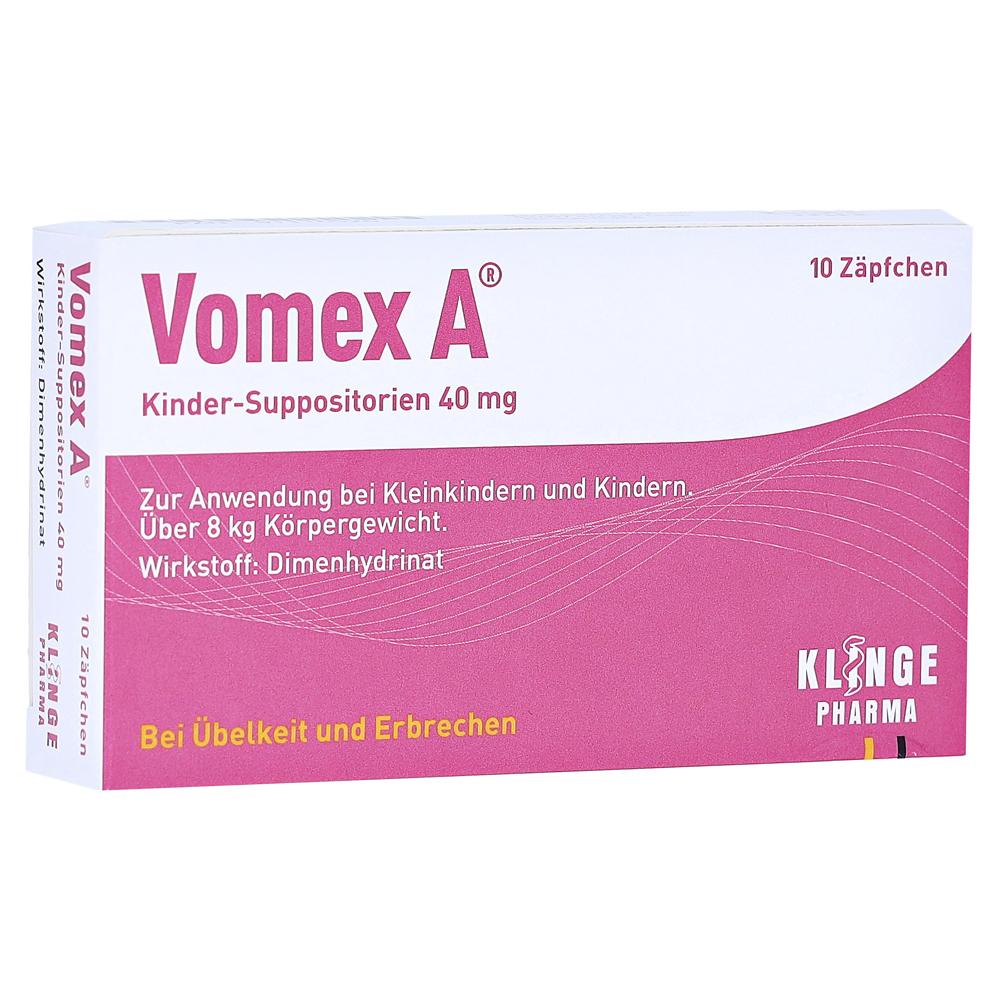 Klinge Pharma GmbH Vomex A Kinder 40mg Kinder-Suppositorien 10 Stück