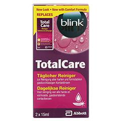 BLINK TotalCare täglicher Reiniger Lösung 2x15 Milliliter - Vorderseite