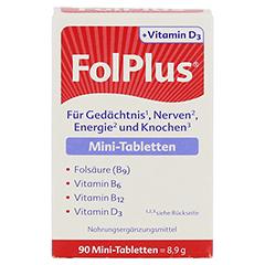 Folplus+d3 Tabletten 90 Stück - Vorderseite