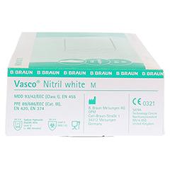 VASCO Nitril white Untersuchungshandschuhe Gr.M 100 Stück - Linke Seite