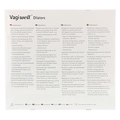 VAGIWELL Dilators Premium 5 Größen 5 Stück - Rückseite