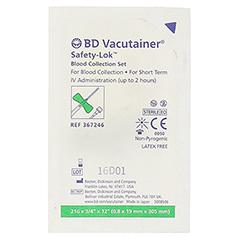 BD VACUTAINER Safety Lok Sicherh.Punkt.Best.grün 1 Stück - Rückseite