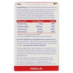 Folplus+d3 Tabletten 90 Stück - Rückseite