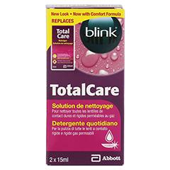 BLINK TotalCare täglicher Reiniger Lösung 2x15 Milliliter - Rückseite
