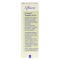 BACH KOMBINATION 5 Flow.Notfalltropf.Healing Herbs 10 Milliliter - Rückseite