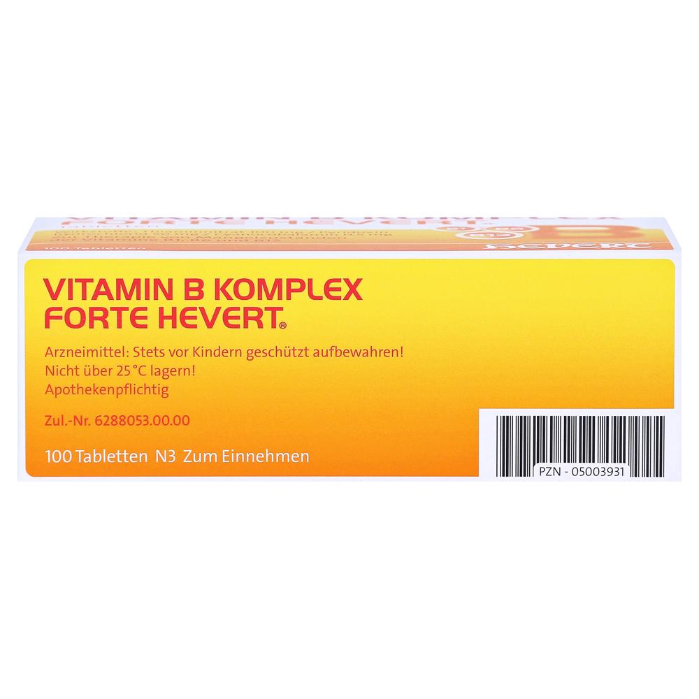 vitamin b komplex forte hevert tabletten 100 st ck n3. Black Bedroom Furniture Sets. Home Design Ideas