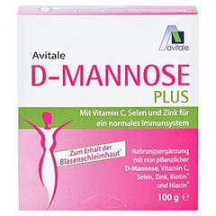 D-MANNOSE PLUS 2000 mg Pulver m.Vit.u.Mineralstof. 100 Gramm - Vorderseite