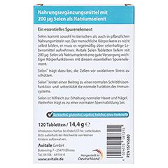 SELEN 200 µg Tabletten 120 Stück - Rückseite