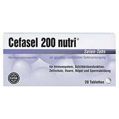 Cefasel 200 Nutri Selen-Tabs 20 Stück - Vorderseite