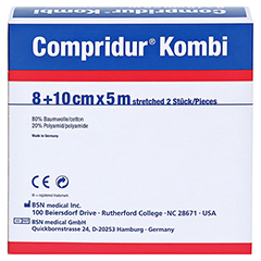 COMPRIDUR Kombi Binden je 1 Binde mit 8 cm+10 cm 1 Stück - Rückseite