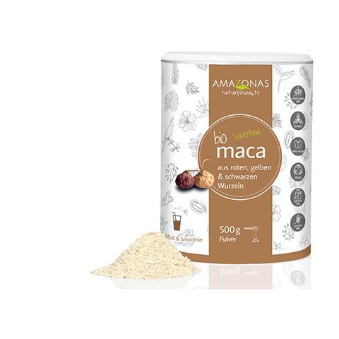 MACA 100% pur Bio Pulver 500 Gramm