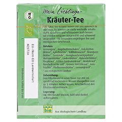 MEIN LIEBLINGS-Kräuter-Tee Bio Salus Filterbeutel 40 Stück - Rückseite
