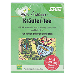 MEIN LIEBLINGS-Kräuter-Tee Bio Salus Filterbeutel 40 Stück - Vorderseite