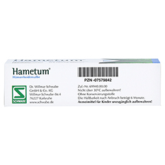 Hametum Hämorrhoidensalbe 25 Gramm N1 - Unterseite