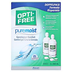 OPTI-FREE PureMoist Multifunktions-Desinf.Lsg. 2x300 Milliliter - Vorderseite