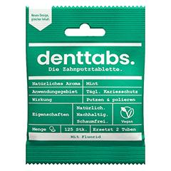 DENTTABS Zahnputztabletten stevia-mint m.Fluorid 125 Stück