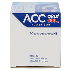 ACC akut 600mg Hustenlöser 20 Stück N1 - Linke Seite