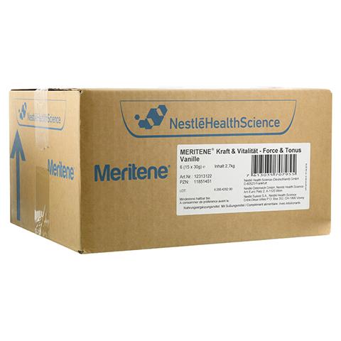 MERITENE Kraft und Vitalität Vanille Pulver 6x15x30 Gramm