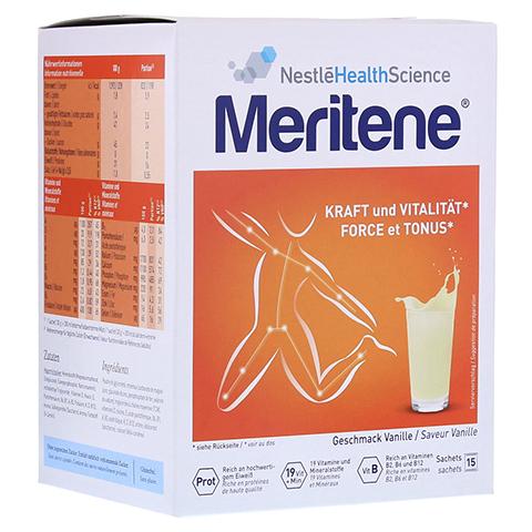 MERITENE Kraft und Vitalität Vanille Pulver 15x30 Gramm