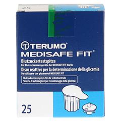 TERUMO Medisafe Fit Blutzuckertestspitzen 25 Stück - Vorderseite