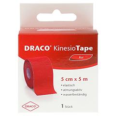 DRACO KINESIOTAPE 5 cmx5 m rot 1 Stück - Vorderseite