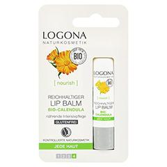 LOGONA Reichhaltiger Lip Balm 4.5 Gramm - Vorderseite