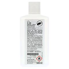 ORO C20 Hände- und Hautdesinfektion 500 Milliliter - Rückseite