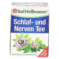 Bad Heilbrunner Schlaf- und Nerven Tee 8 Stück - Rückseite