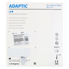 ADAPTIC 7,6x7,6 cm feuchte Wundauflage 2012Z 10 Stück - Rückseite